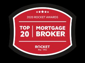 Rocket Mortgage Top 20 Broker